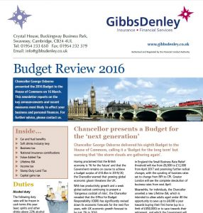 Screenshot of 2016 Budget Update File