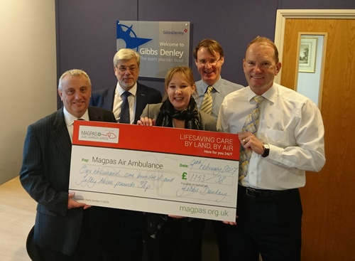 Magpas 2016 Charity of the Year Fundraising Total