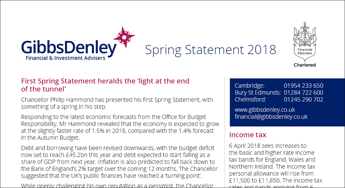 Spring Stateement 2018