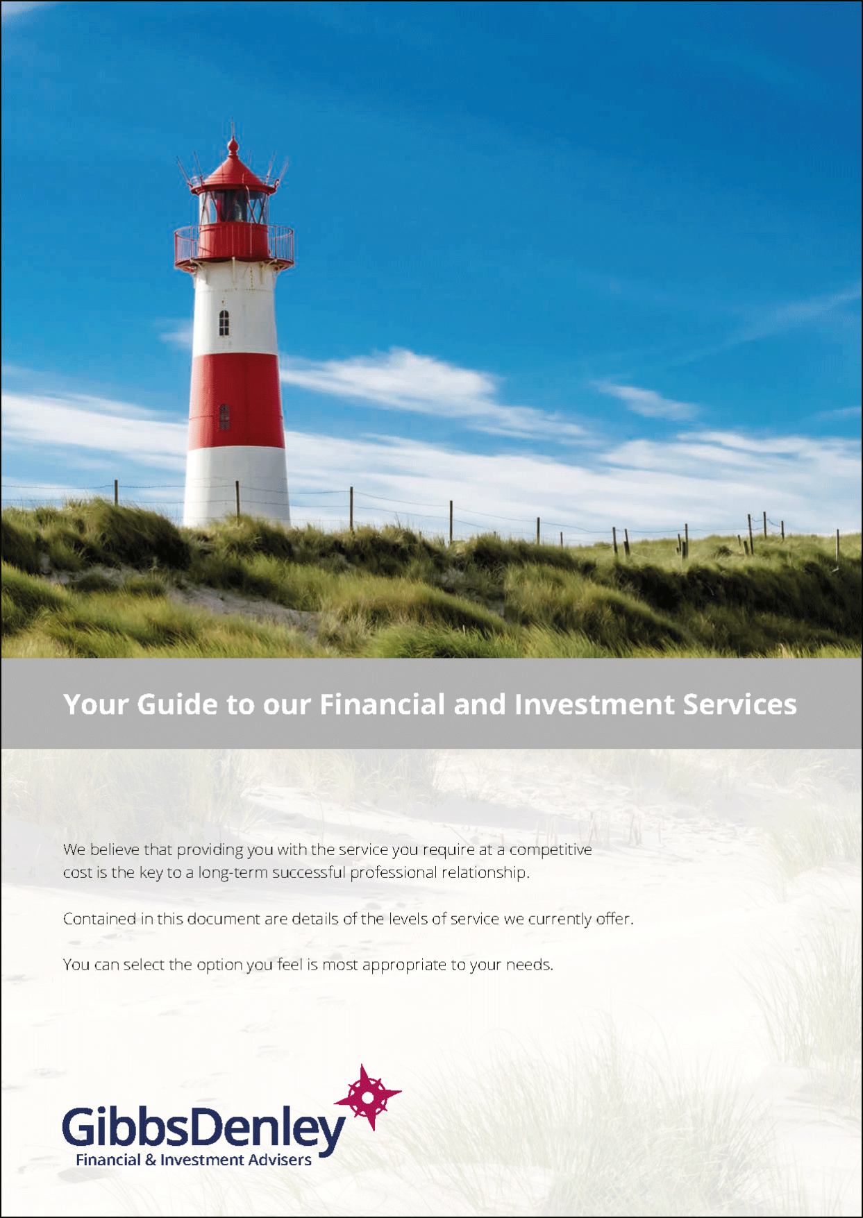 Your Guide to Our Financial and Investment Services